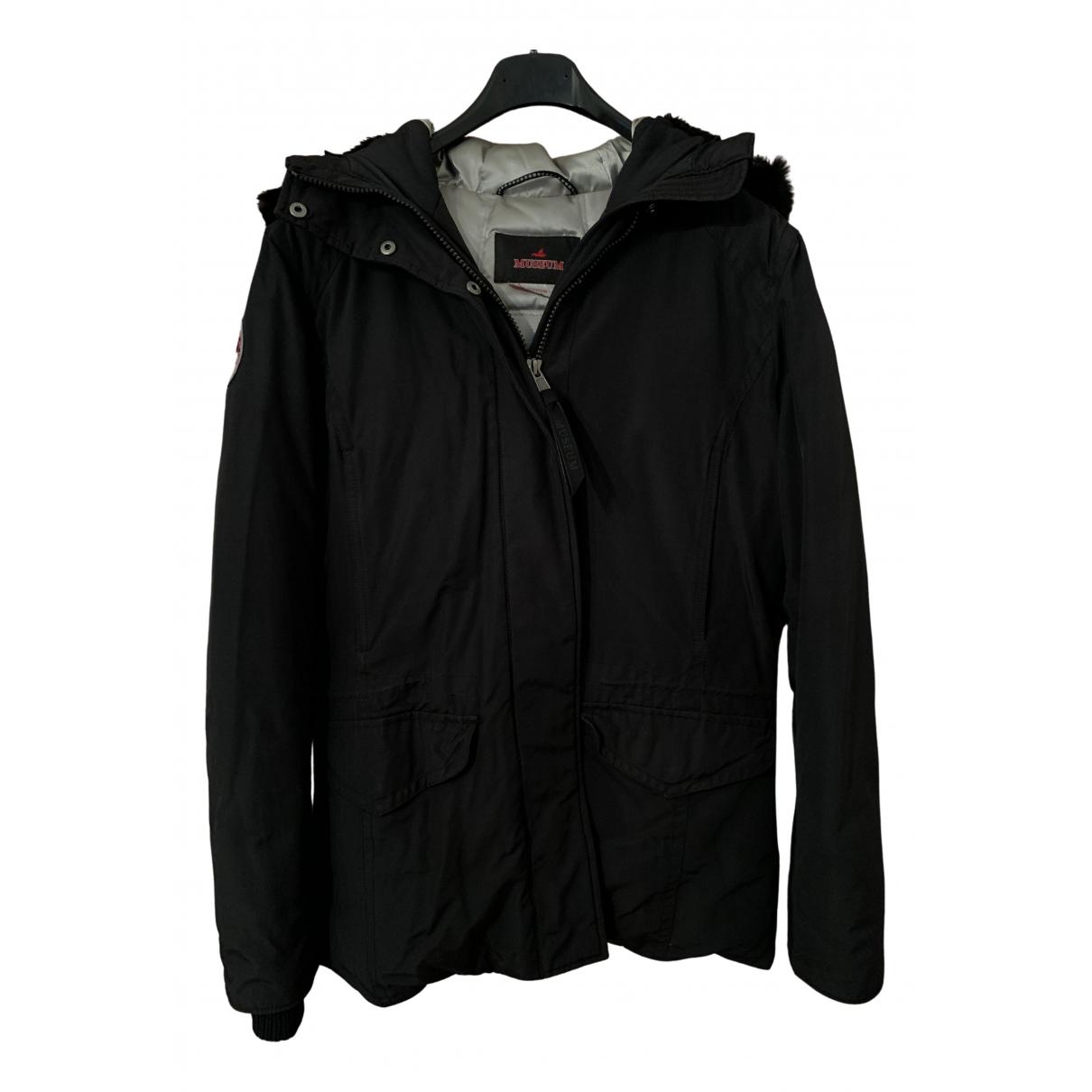 Museum - Manteau   pour femme en coton - noir