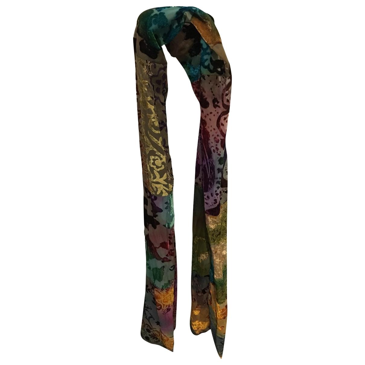 - Foulard   pour femme en velours - multicolore