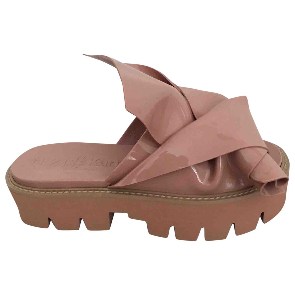 N°21 \N Beige Rubber Sandals for Women 37 EU