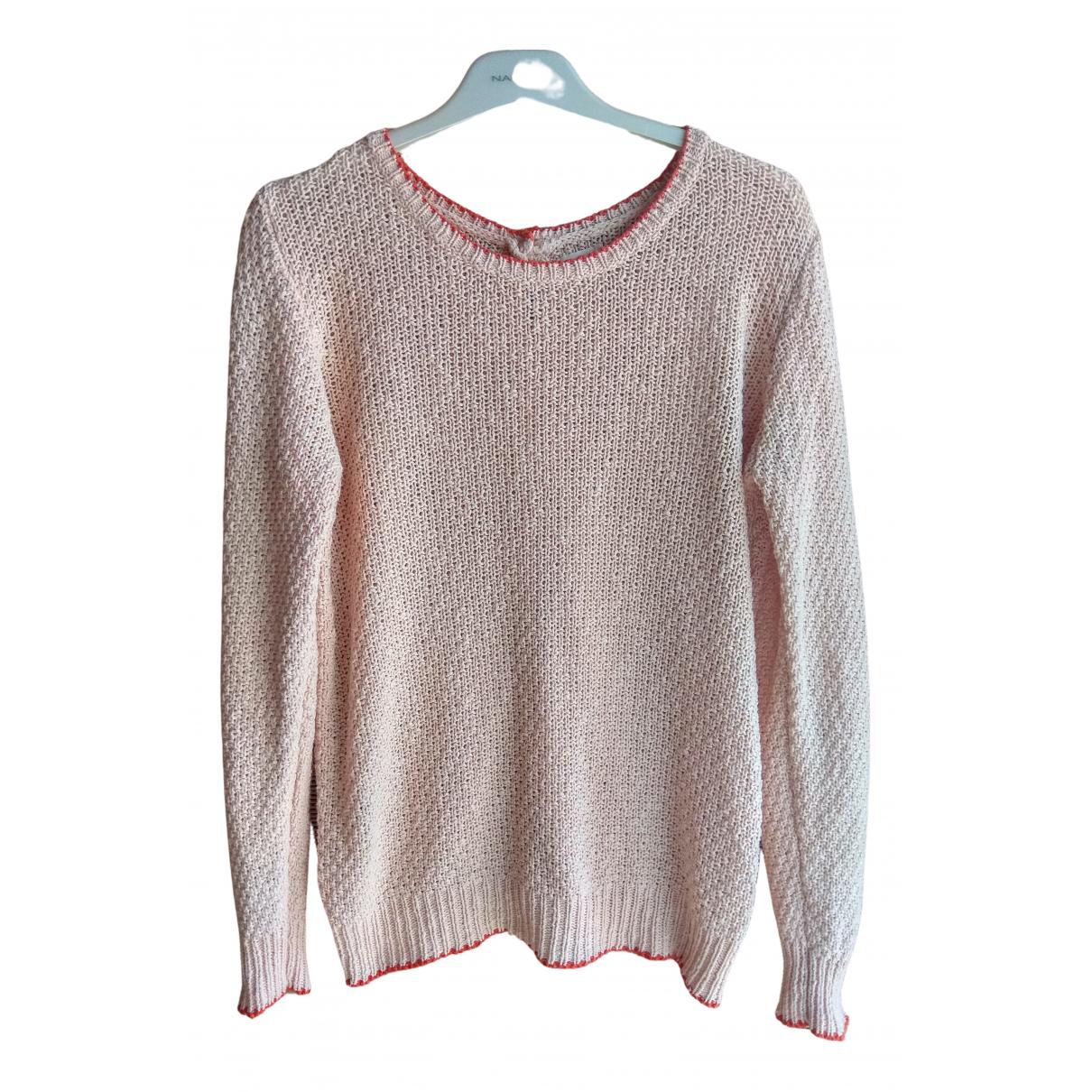 Hartford - Pull   pour femme en coton - rose