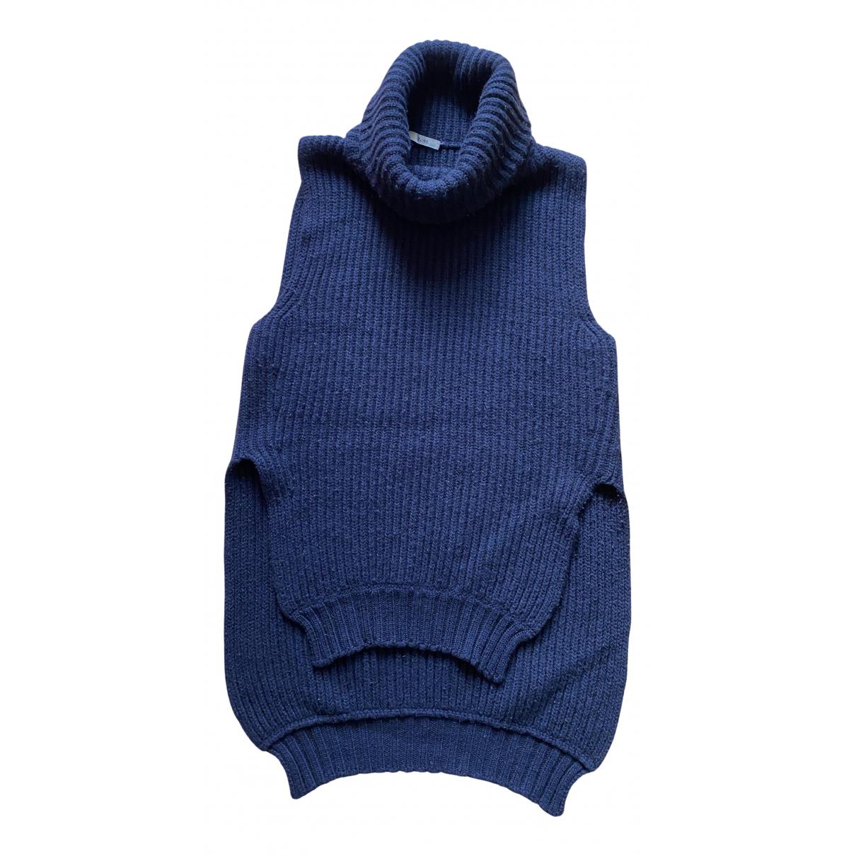 Celine N Navy Wool Knitwear for Women M International