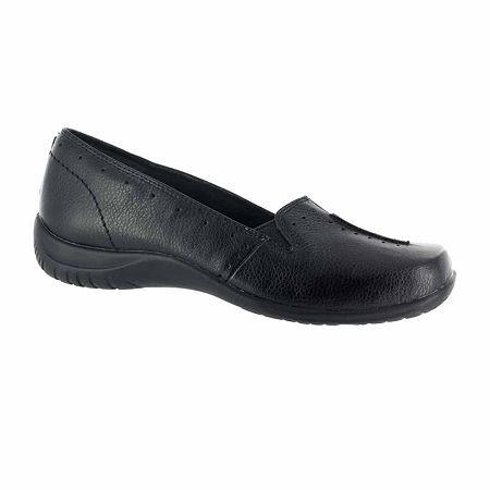 Easy Street Womens Purpose Slip-On Shoe, 8 1/2 Wide, Black