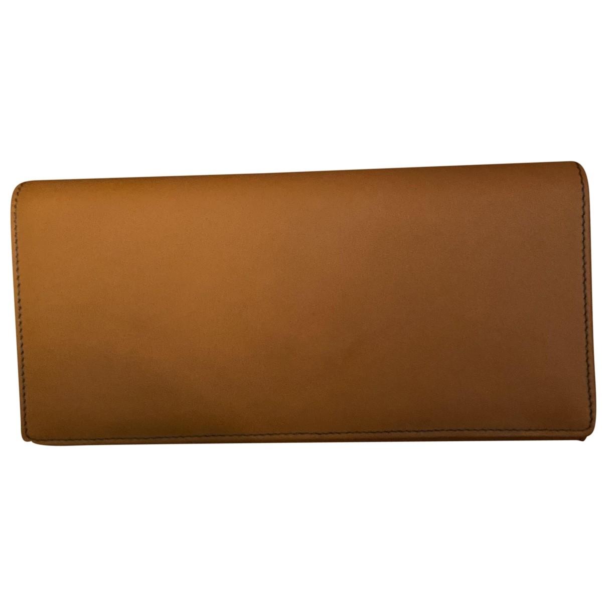 Valextra - Portefeuille   pour femme en cuir - camel