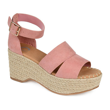 Journee Collection Womens Takara Pumps Block Heel, 8 Medium, Pink