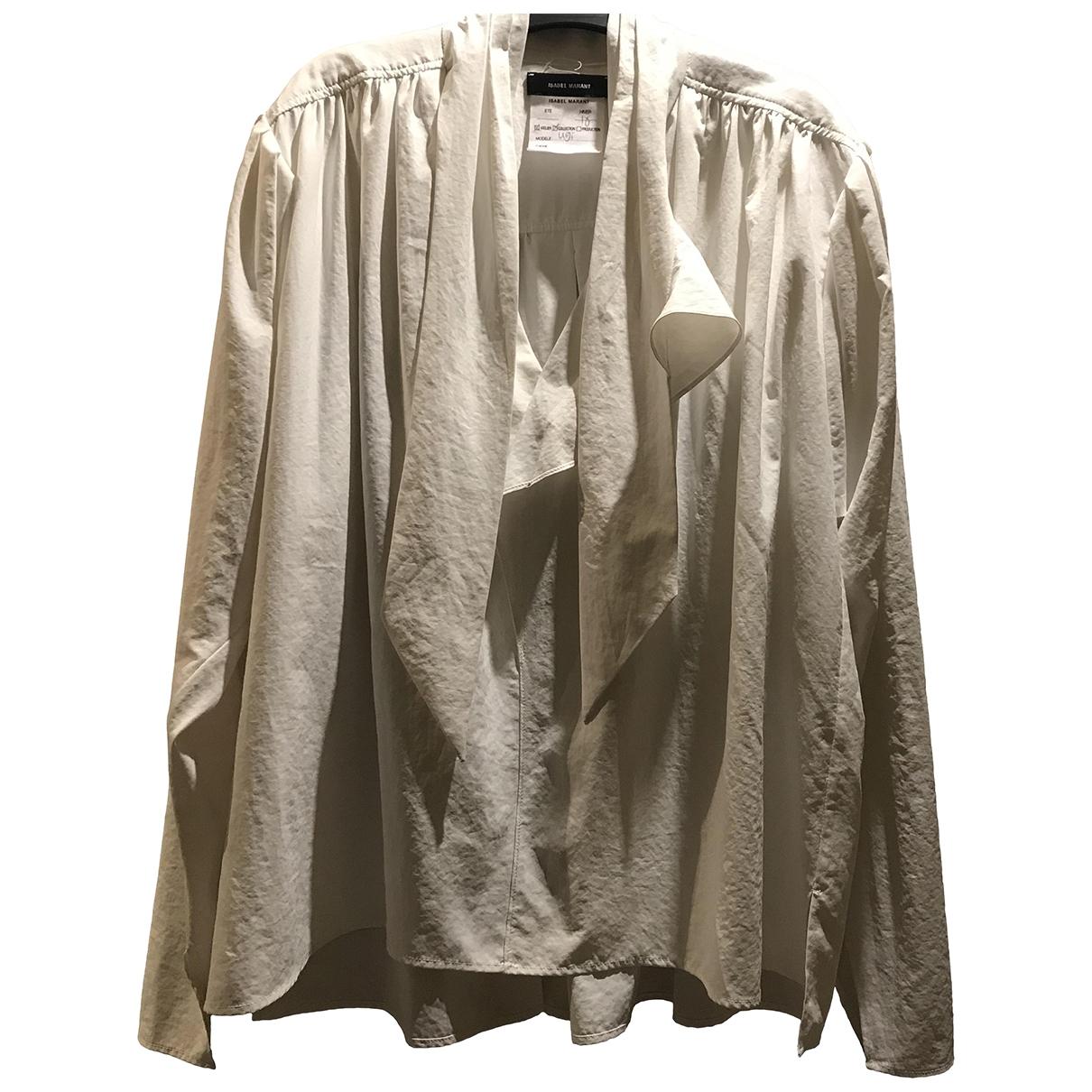 Isabel Marant \N White Silk  top for Women 38 FR
