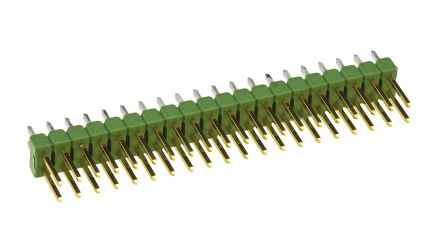 TE Connectivity , AMPMODU MOD II, 40 Way, 2 Row, Straight Pin Header (10)
