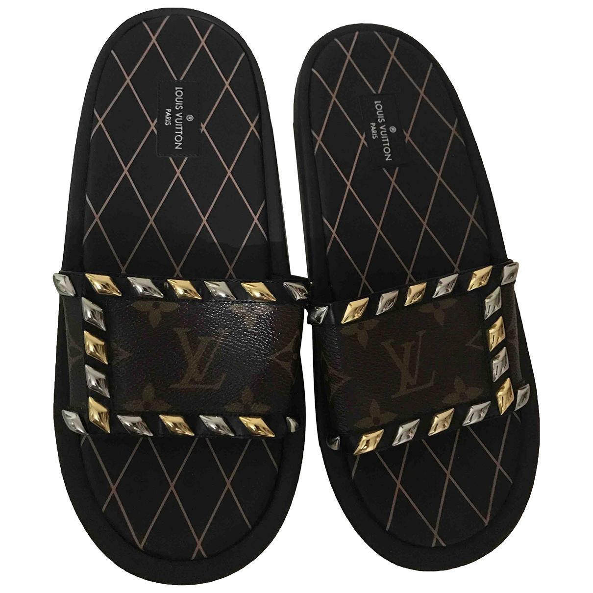 Louis Vuitton - Sandales Wayside pour femme en toile - marron