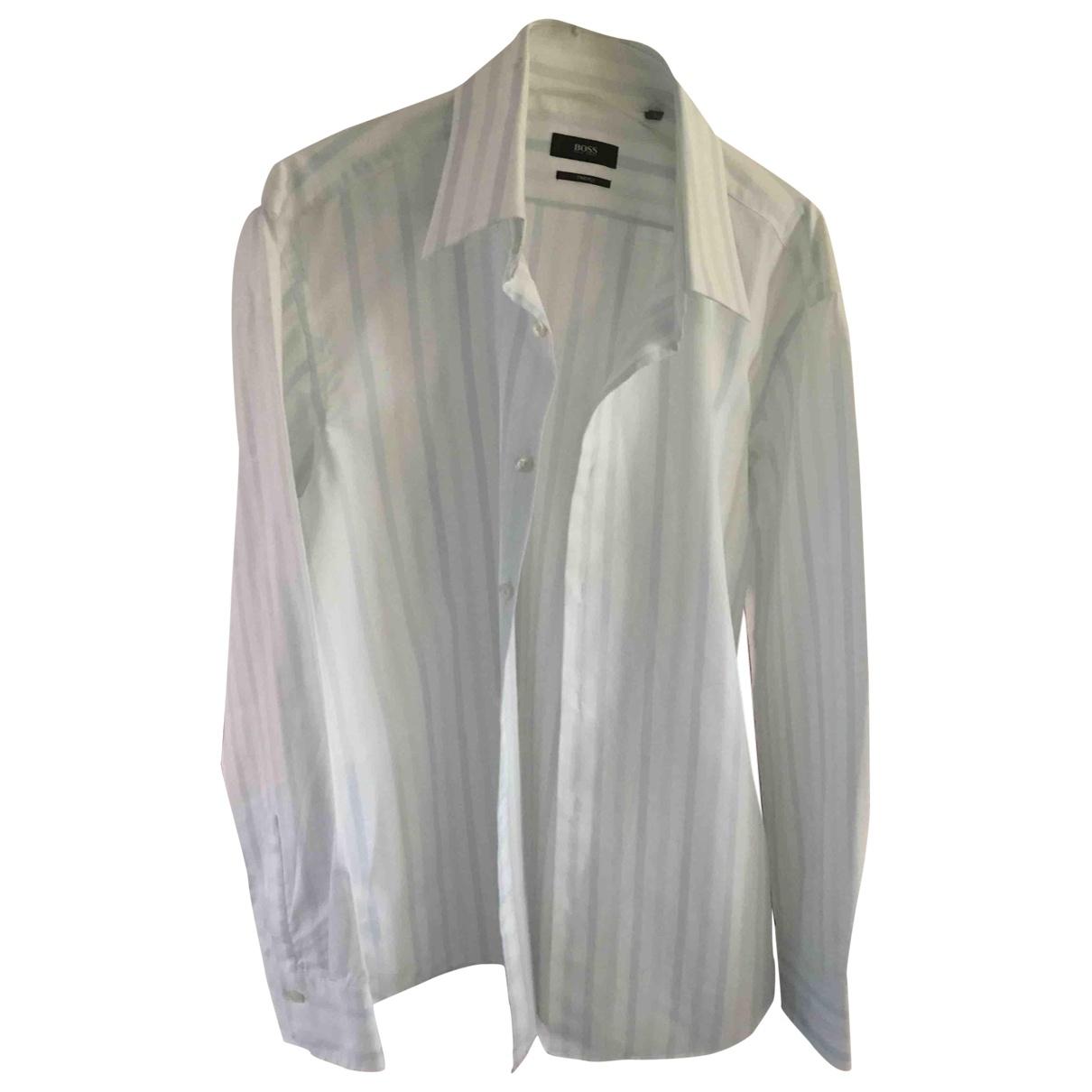 Boss - Chemises   pour homme en coton - blanc