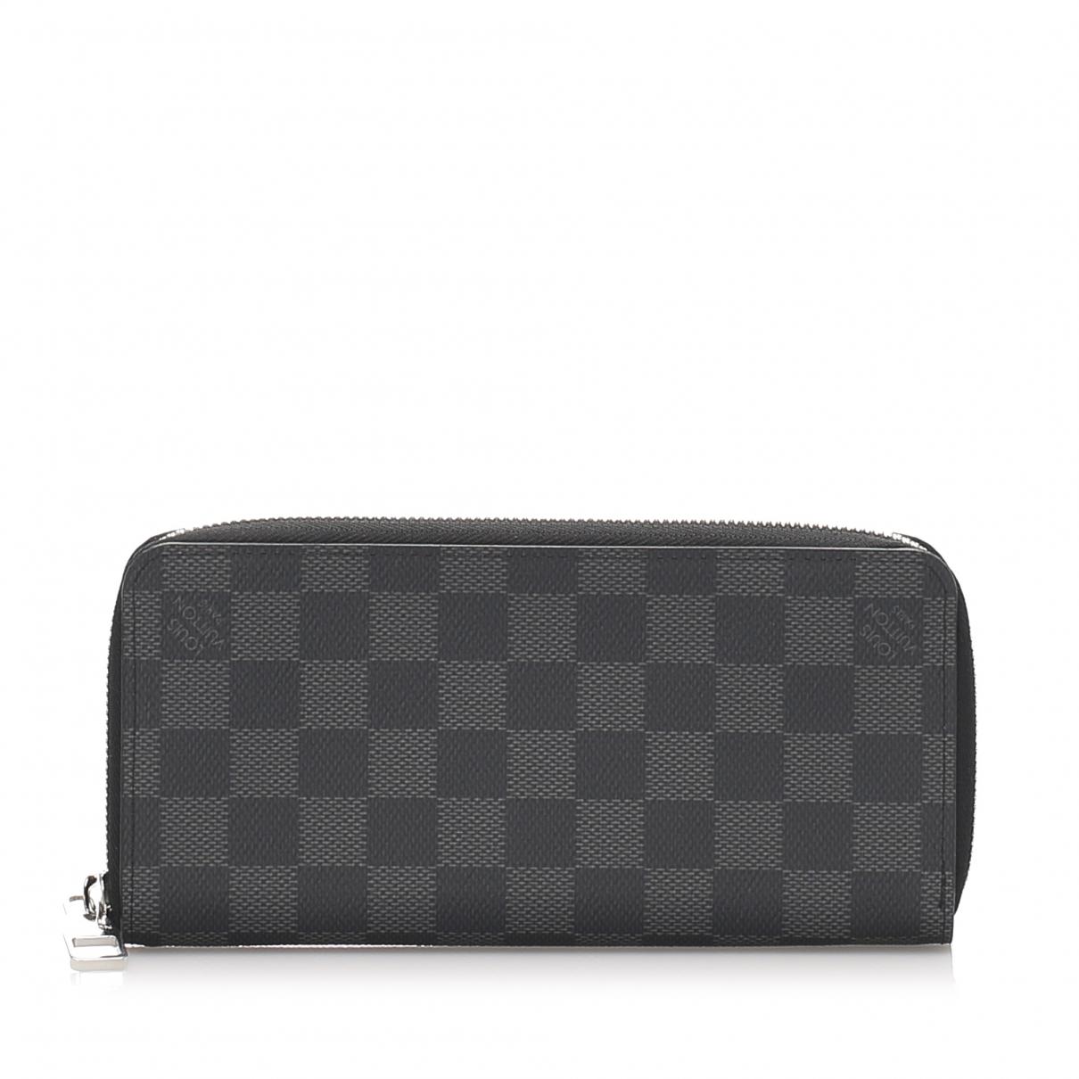 Louis Vuitton - Portefeuille Zippy pour femme en toile - noir