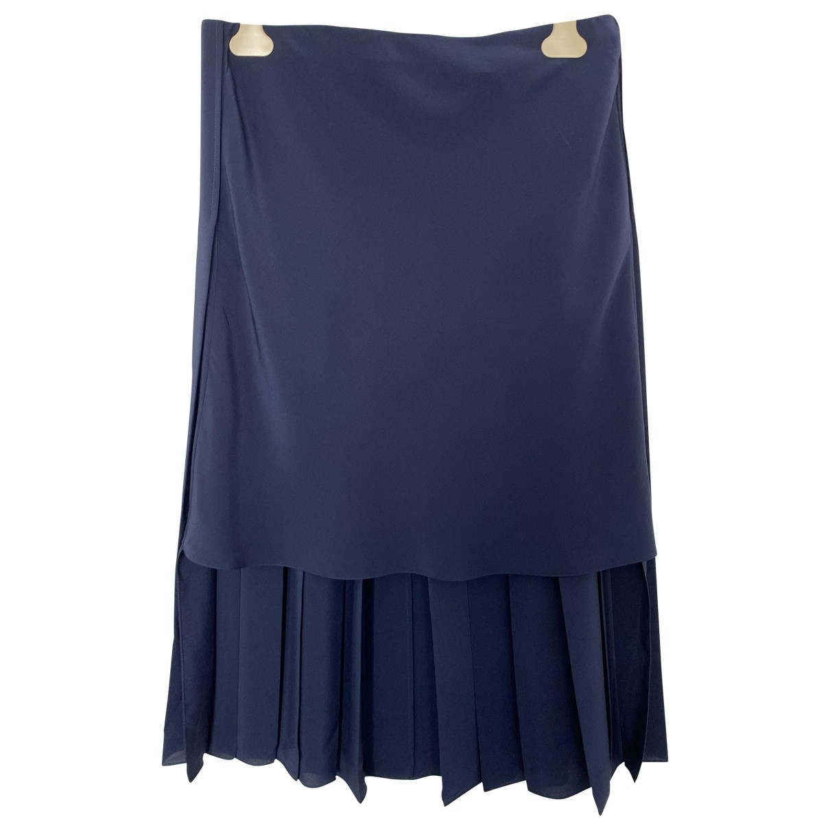 Chloé \N Navy Silk skirt for Women 40 FR