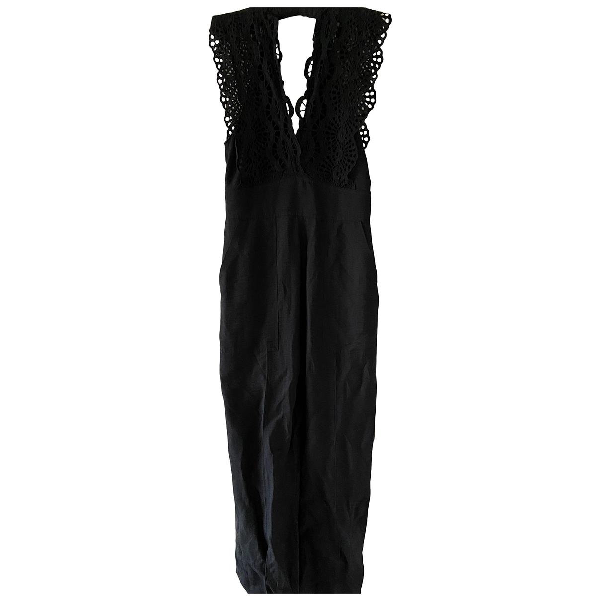 Sandro - Combinaison Spring Summer 2020 pour femme en lin - noir