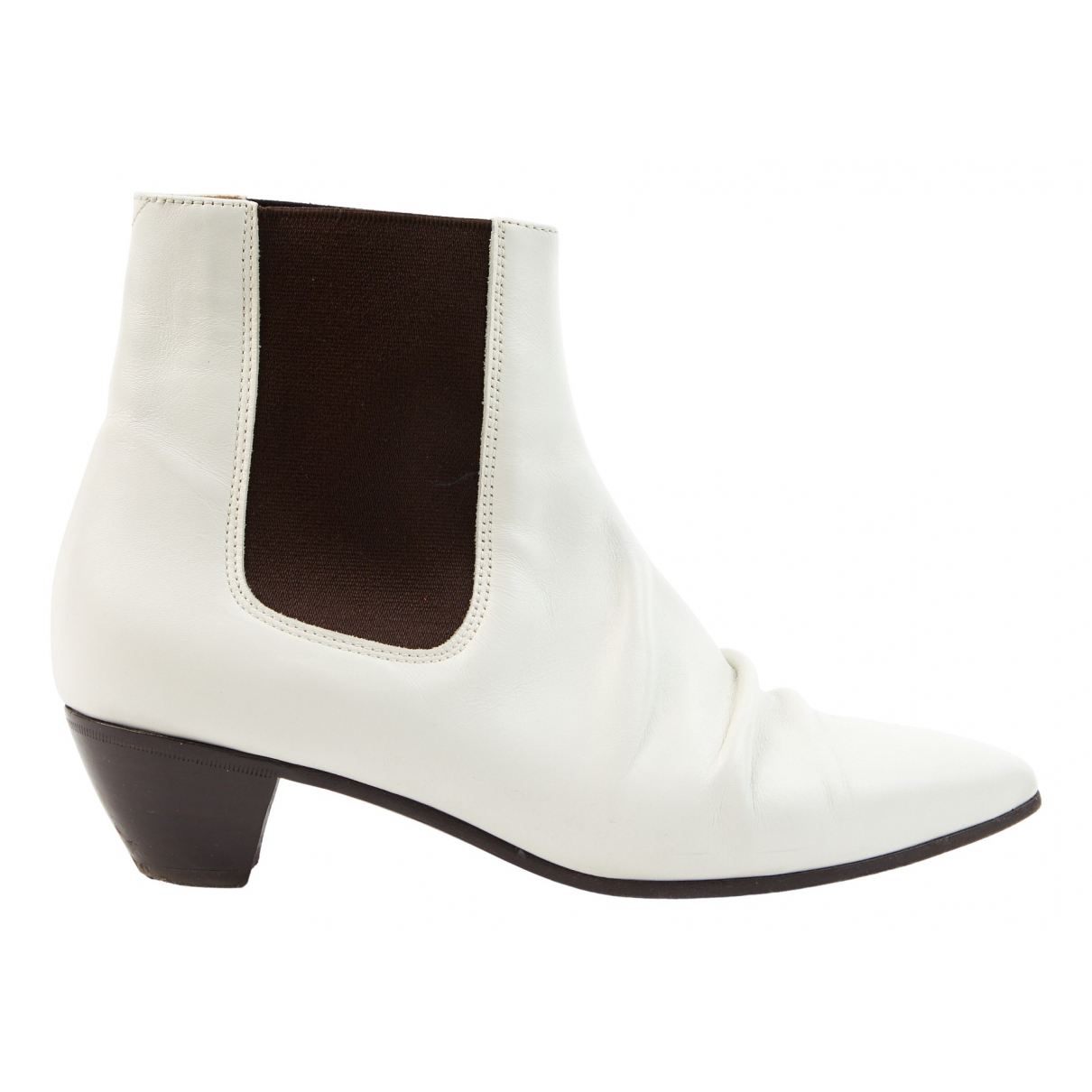 Celine N Ecru Leather Ankle boots for Women 39 EU