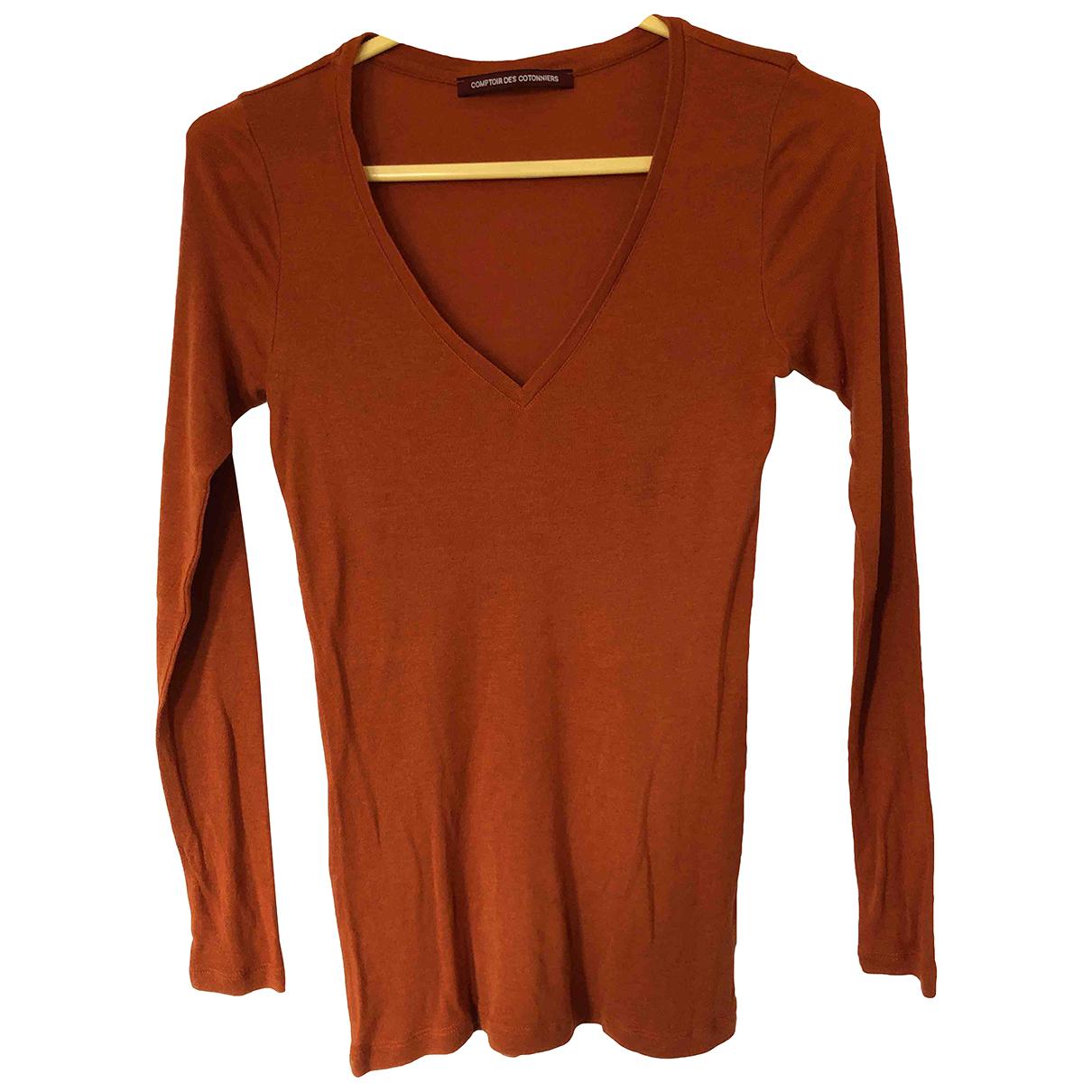 Comptoir Des Cotonniers - Top   pour femme en cachemire - orange