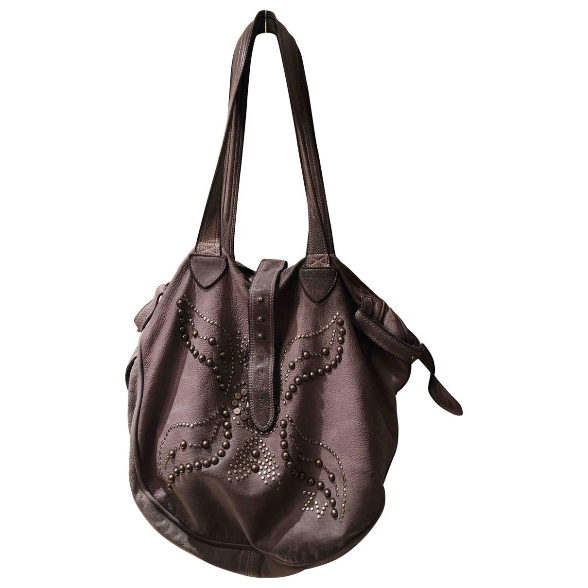 Zadig & Voltaire \N Purple Leather handbag for Women \N