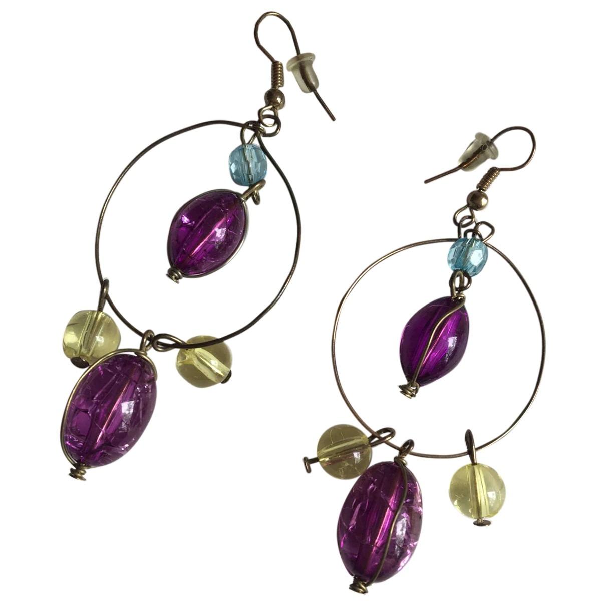 - Boucles doreilles Amethyste pour femme en metal - violet