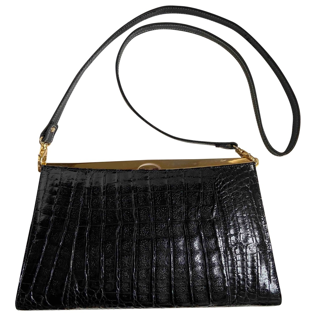 Non Signé / Unsigned \N Blue Crocodile handbag for Women \N