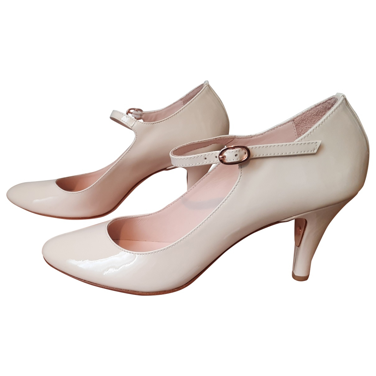 Repetto \N Pumps in  Weiss Lackleder