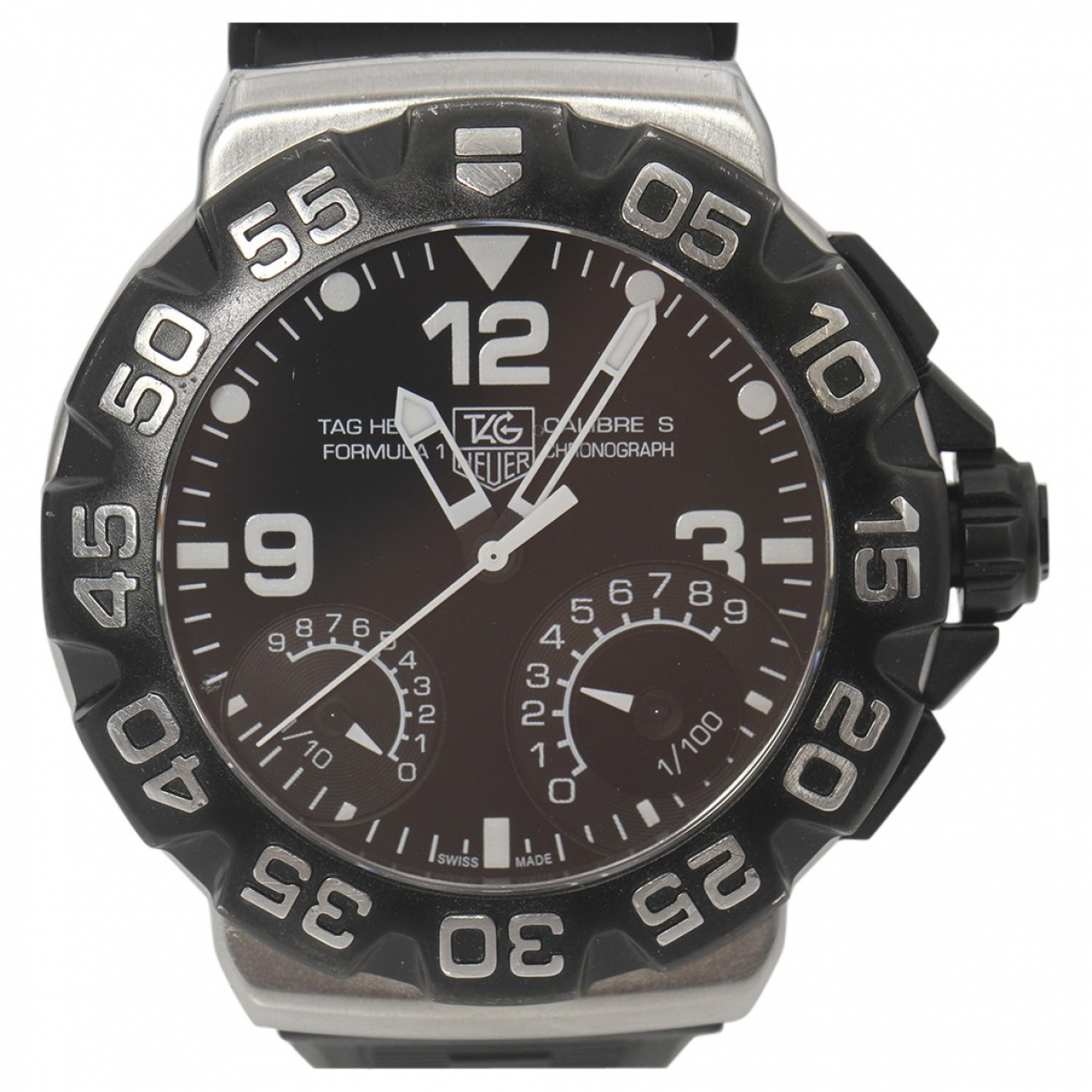 Tag Heuer Formula 1  Black Steel watch for Men N