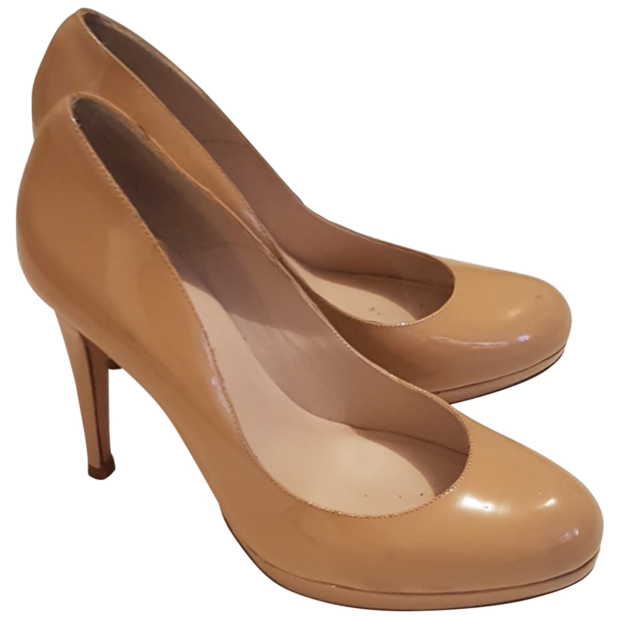 Lk Bennett \N Beige Patent leather Heels for Women 41 EU