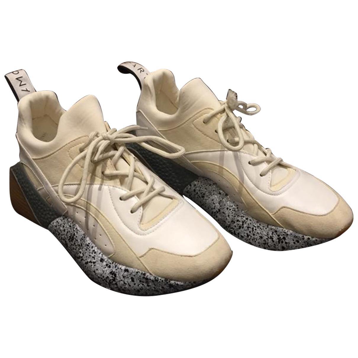 Stella Mccartney Eclypse Sneakers in  Beige Polyester