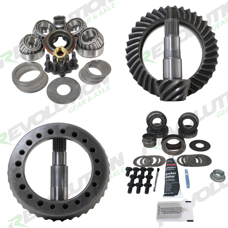 Revolution Gear and Axle Rev-JK-Non-456-K JK Non-Rubicon 4.56 Ratio Gear Package (D44-D30) with Koyo Bearings (Front Carrier Required When Upgrading F