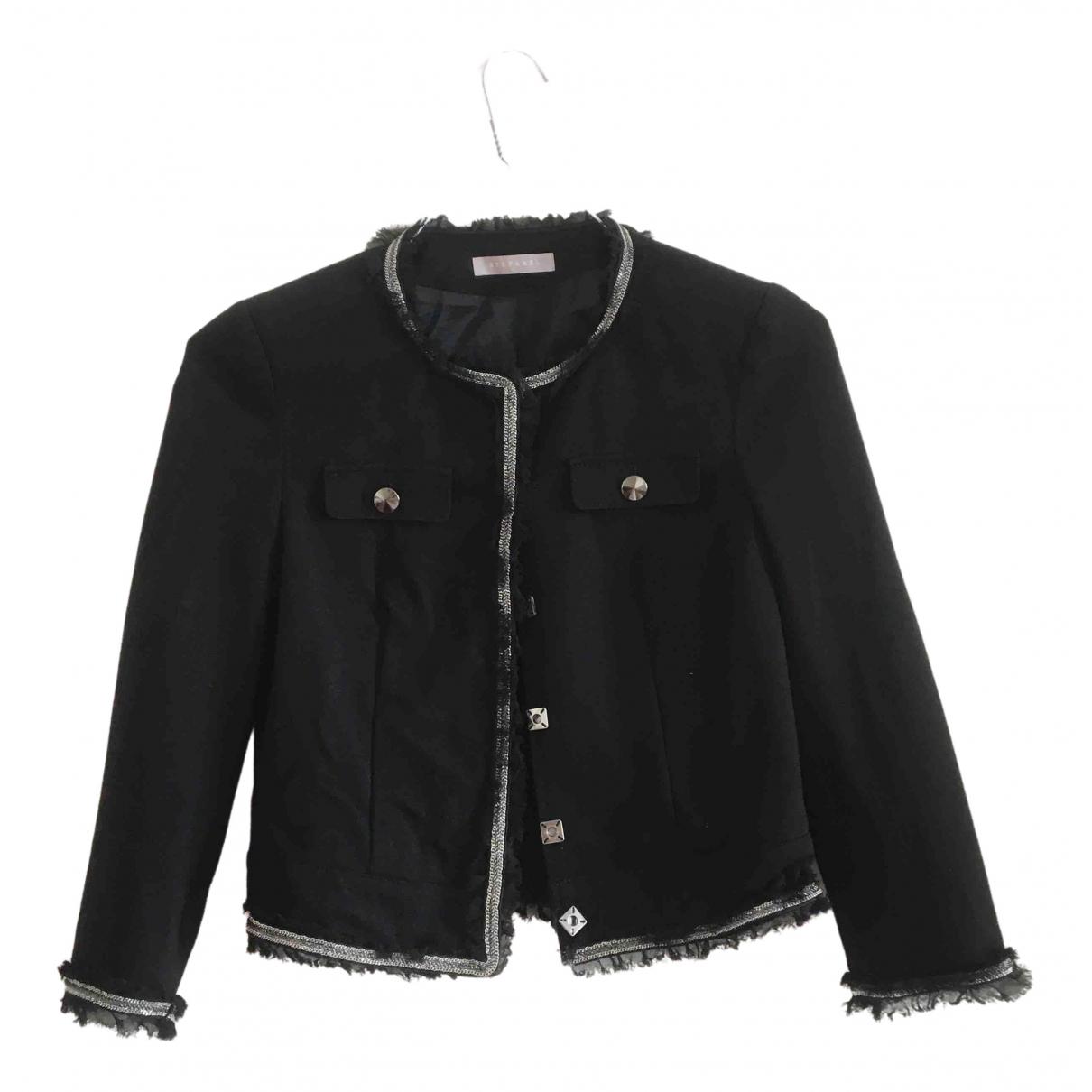 Stefanel N Black jacket for Women 38 FR