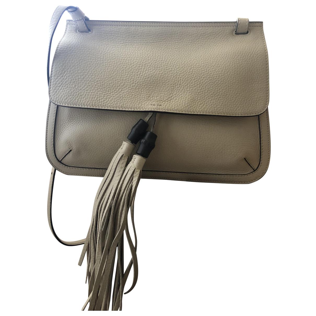 Gucci Bamboo Beige Leather handbag for Women \N