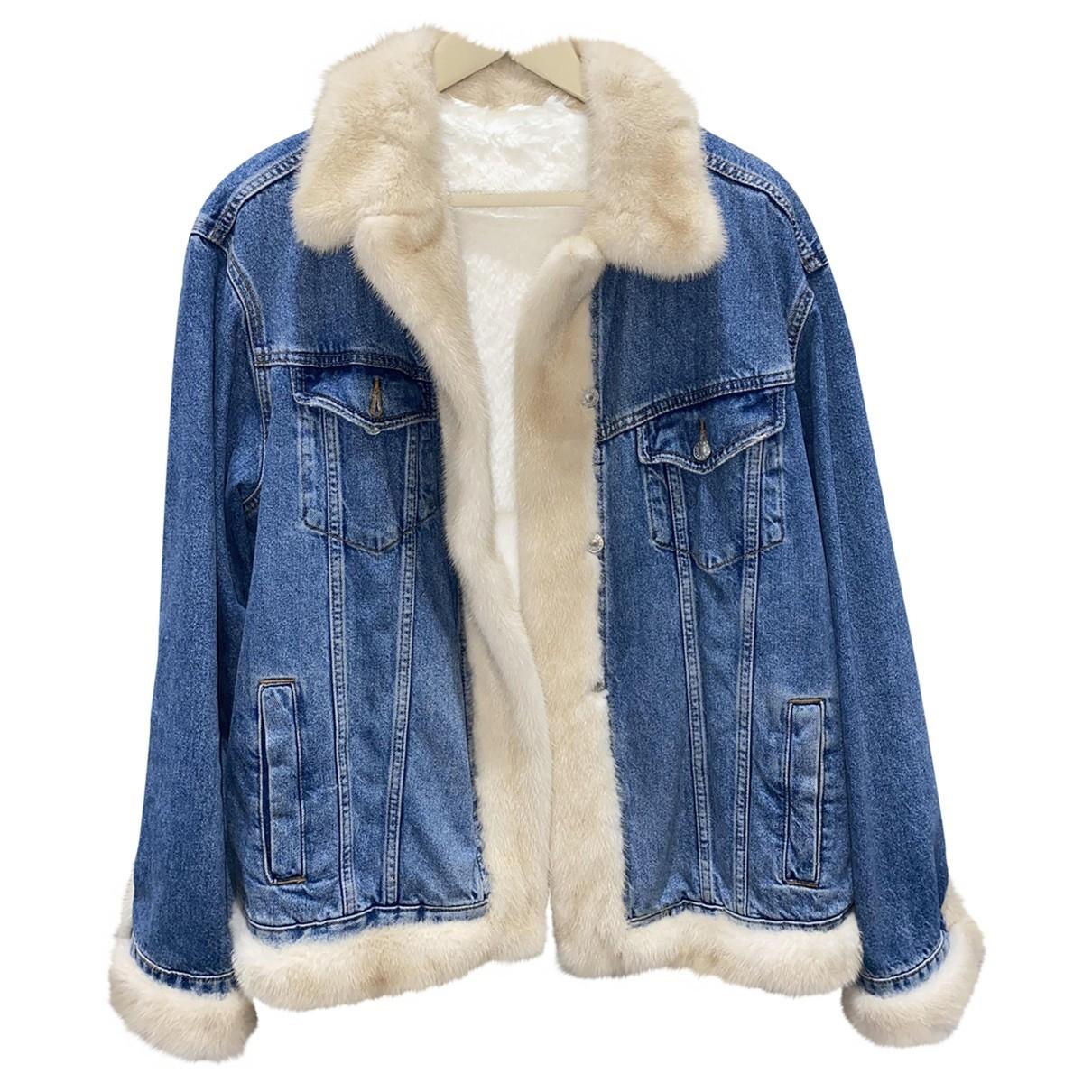- Veste Oversize pour femme en renard - bleu