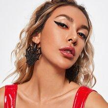 Halloween Cobweb Charm Drop Earrings