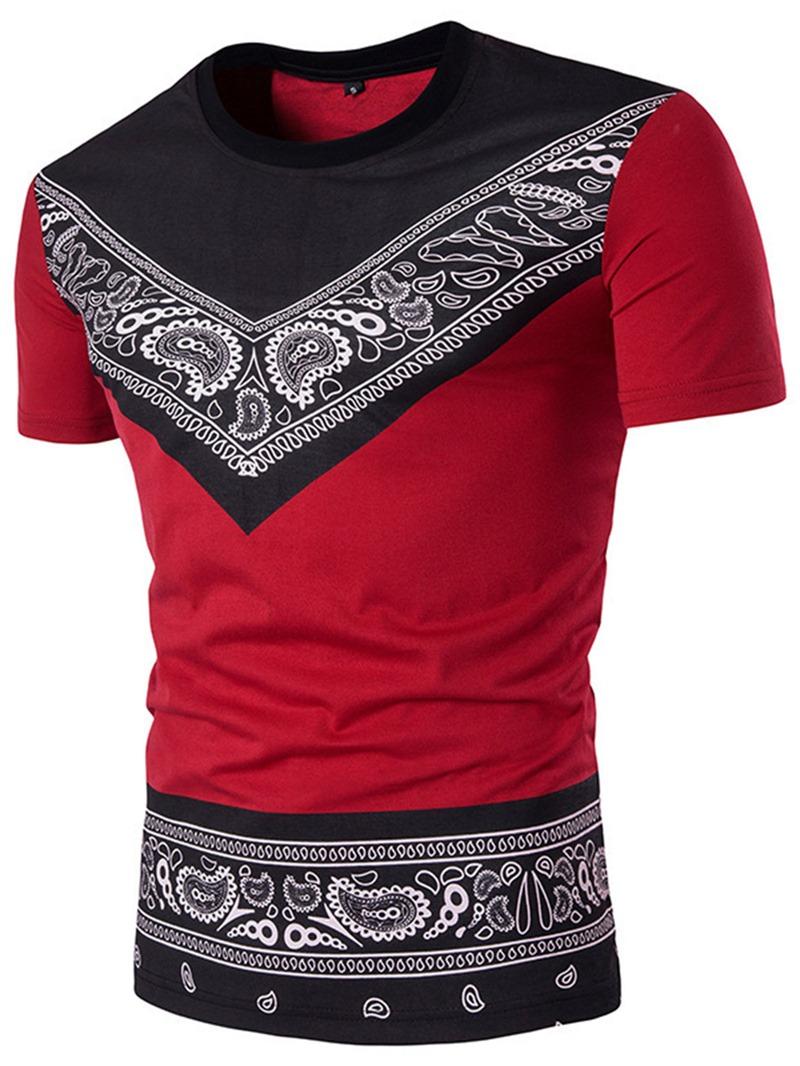 Ericdress African Fashion Print Mens Loose T-shirt