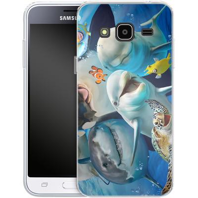 Samsung Galaxy J3 (2016) Silikon Handyhuelle - Ocean Selfie von Howard Robinson