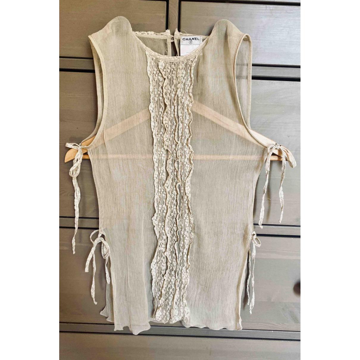 Chanel \N Ecru Silk  top for Women 36 FR