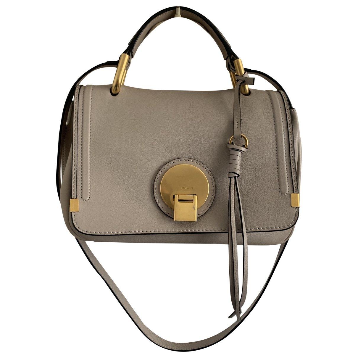 Chloe \N Handtasche in  Grau Leder