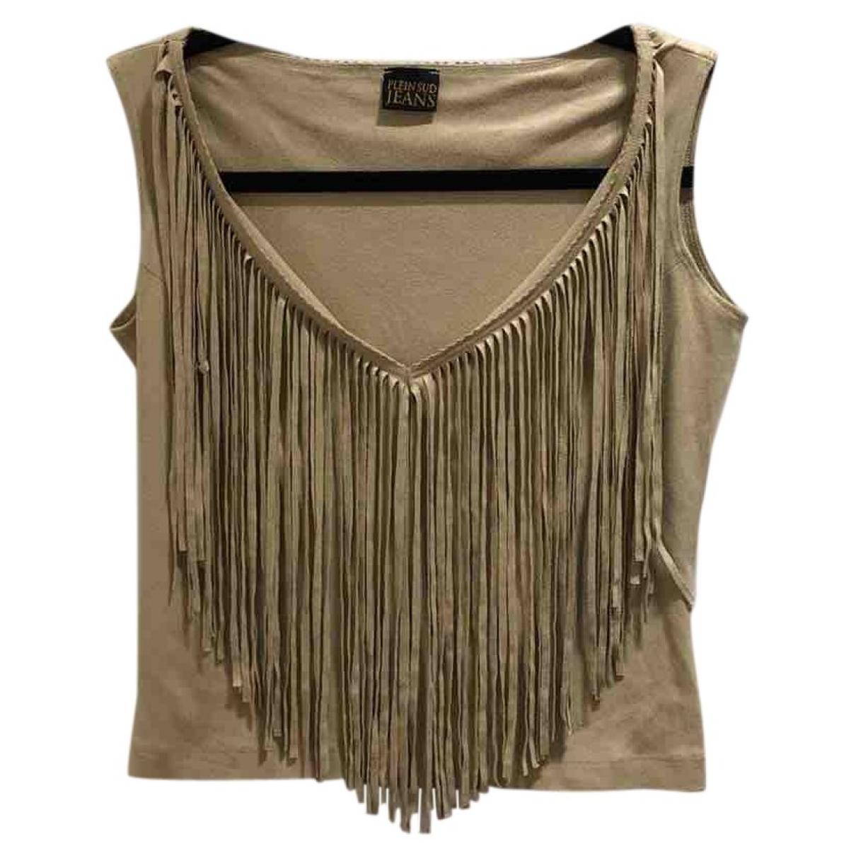 Plein Sud \N Camel Cotton  top for Women 36 FR