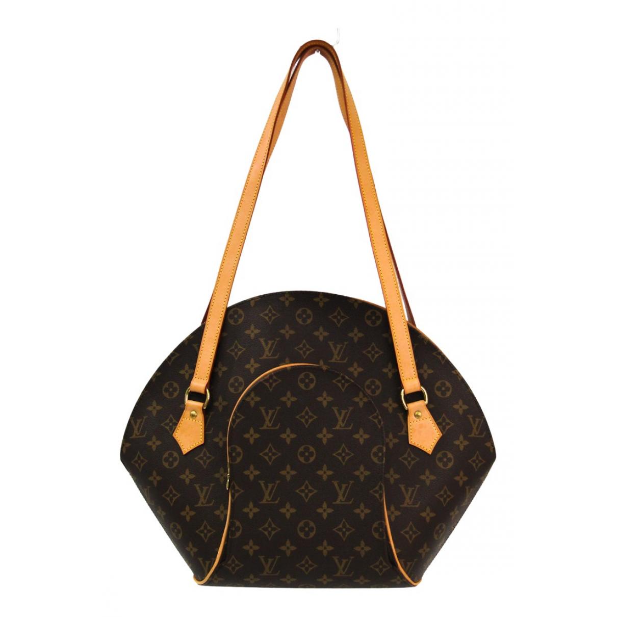 Louis Vuitton - Sac a main Ellipse pour femme en toile - marron