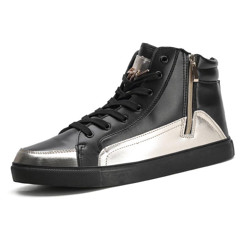 Ericdress High-Cut Upper Zipper Color Block Men's Skate Shoes