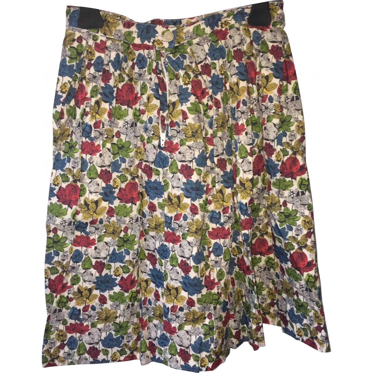 Roy Roger's \N White Cotton skirt for Women 40 IT