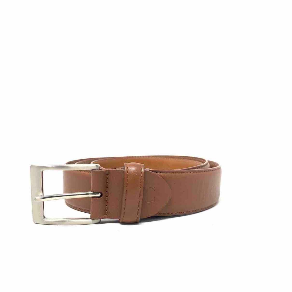 Canali \N Brown Leather belt for Women L International