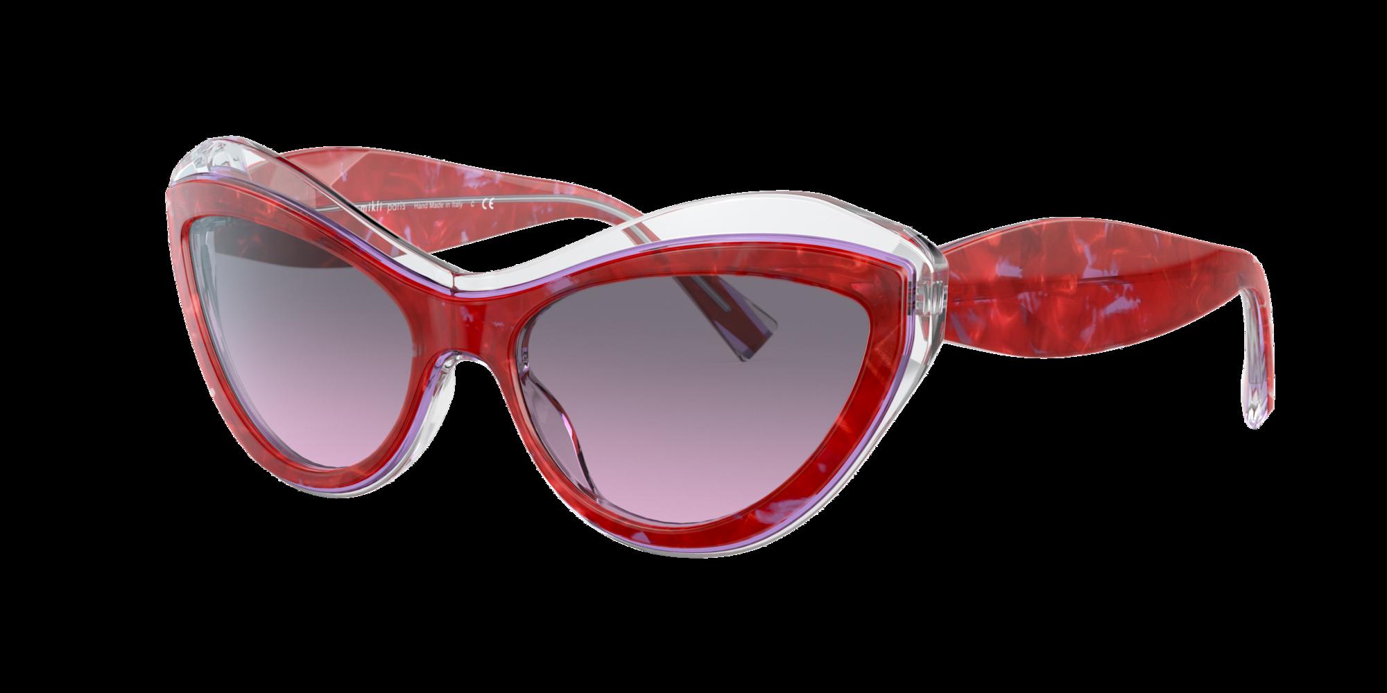 Alain Mikli Woman  A05061 -  Frame color: Red, Lens color: Grey-Black