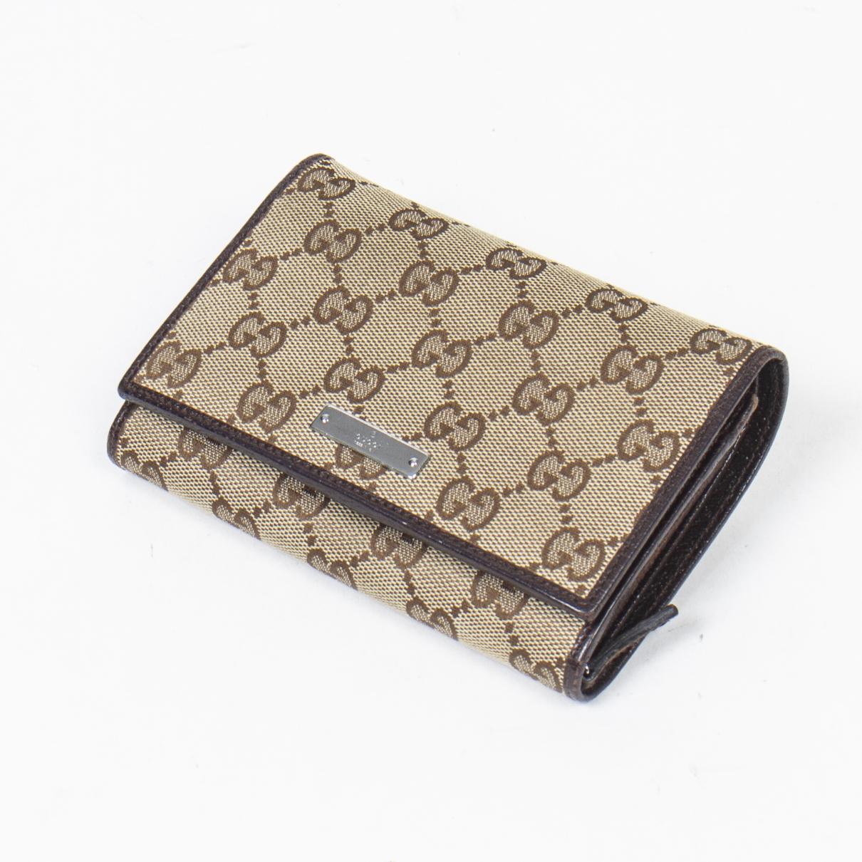 Gucci \N Portemonnaie in  Braun Baumwolle