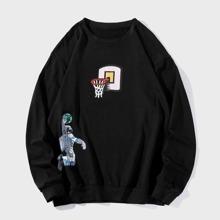 Sweatshirt mit Astronaut & Karikatur Grafik