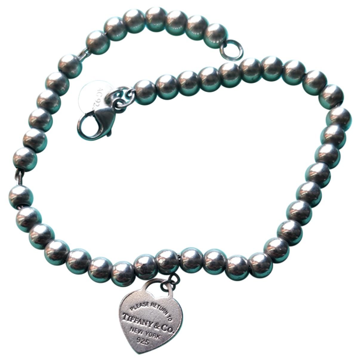 Tiffany & Co - Bracelet Return to Tiffany pour femme en argent - argente