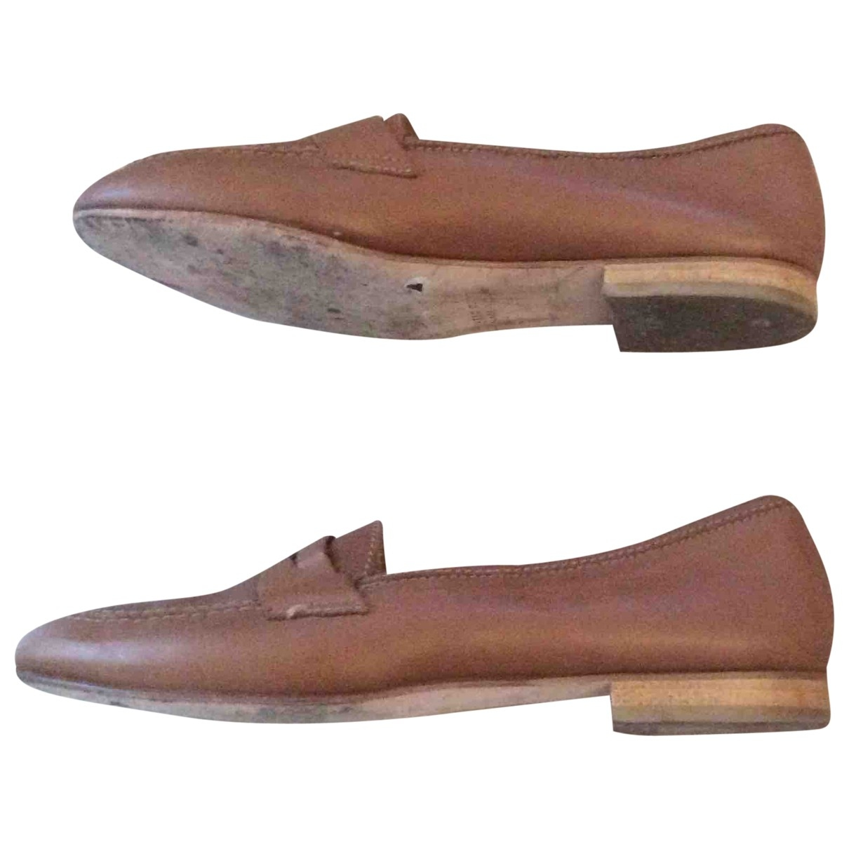 Carel \N Camel Leather Flats for Women 36 EU