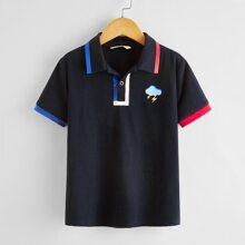 Jungen Polo Shirt mit Grafik