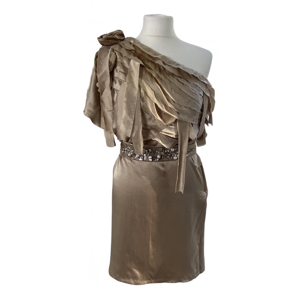 Elisabetta Franchi - Robe   pour femme en soie - metallise