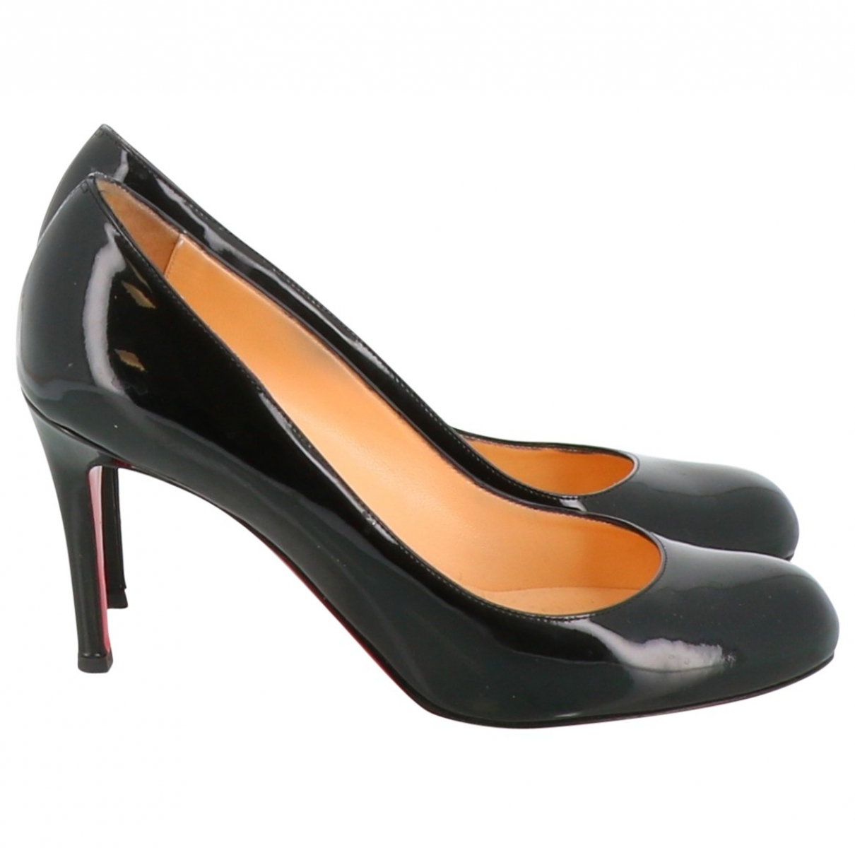 Christian Louboutin Fifi  Black Patent leather Heels for Women 35.5 EU