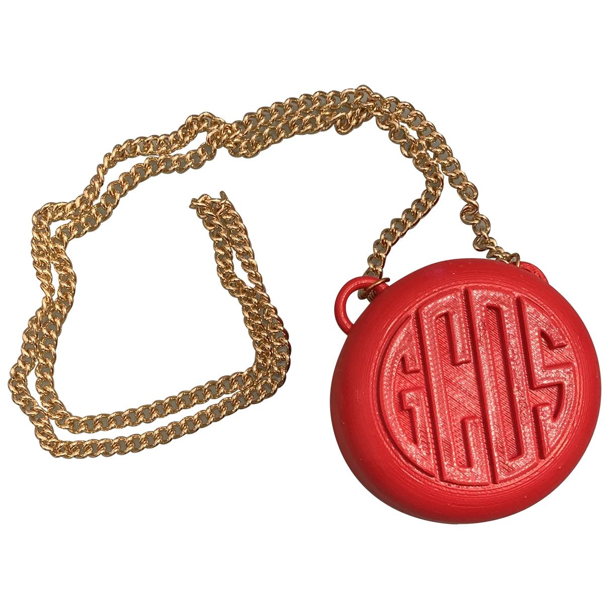 Bolsos clutch en Plastico Rojo Gcds