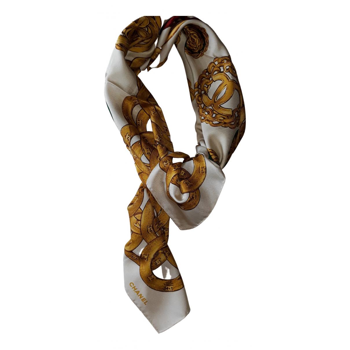 Chanel - Carre   pour femme en soie - dore