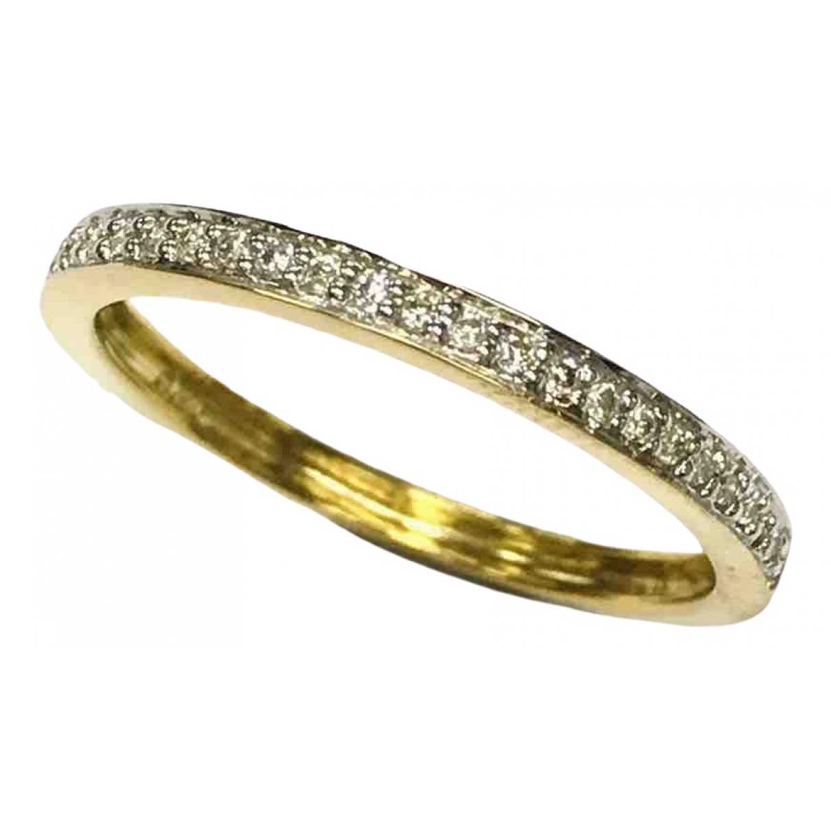 - Bague Alliance pour femme en or jaune - blanc