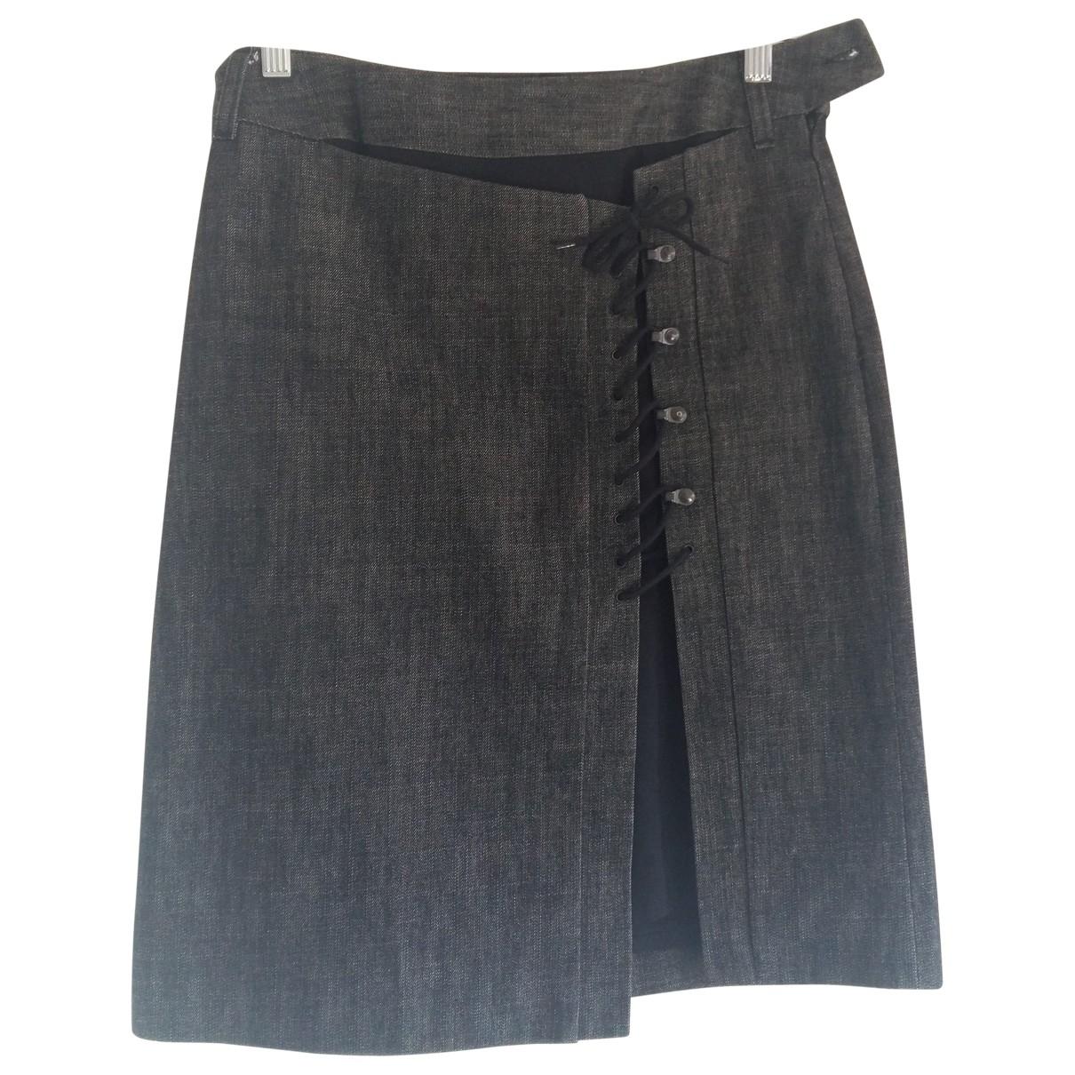 Bill Tornade \N Black Cotton skirt for Women 36 FR